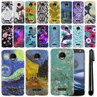 For Motorola Moto Z Force Droid Edition PATTERN HARD Back Case Phone Cover + Pen