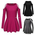 Sexy Women Summer Lace Long Sleeve Party Evening Cocktail Short Mini Dress SH