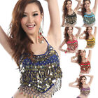 Belly Dance Shiny Sequin Beads Peppers Bra Tops Bollywood Halter Dance Costume