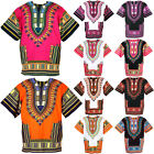 10 Pink & Orange Shade Dashiki African Mexican Poncho Shirt Blouse Cotton Var