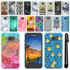 For Samsung Galaxy S7 Active G891 Art Design Phone Hard Case Back Cover + Pen