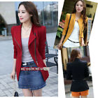 Womens Formal Business Office Ladies Slim Long Sleeve Suit Coat Jacket Blazers