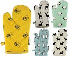 ANIMAL PRINTED SINGLE OVEN GLOVES HEAVY DUTY HEAT RESISTANT MITTS 100% COTTON