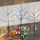 Christmas Tree LED Decorations Battery Operated Pre-Lit 96 Cherry Blossom Xmas