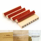 Vintage Wooden Rubber Stamp Made Card Letter Gifts Scrapbooking Decorating
