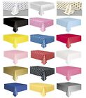 Party Tablecover - Tableware Table Cloth  Spot Dot Spotty Solid Chevron Plain