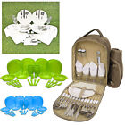 Outdoor Picnic Family Dining Dinner Back Pack Set Rucksack Carry Cool Cooler Bag