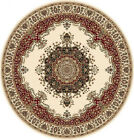 """IVORY FREE S&H ROUND 6 X 6 PERSIAN AREA RUG ORIENTAL 29 - ACTUAL 5' 2"""" ROUND"""