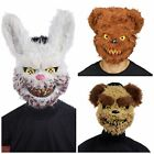 ADULT HALLOWEEN MASK KILLER TEDDY BEAR ZOMBIE RABBIT FANCY DRESS SNOWBALL FACE
