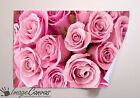 BUNCH OF PINK ROSES GIANT WALL ART POSTER A0 A1 A2 A3
