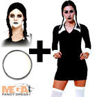 Scary Daughter + Wig + Facepaint  Halloween Ladies Fancy Dress Adult Costume Out