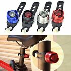 New Waterproof Red LED Bike Bicycle Cycling Rear Light Tail Lamp Silver Black
