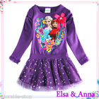 FROZEN Princess ELSA & ANNA Girls Christmas Party Tutu Dresses SIZE 1-2-3-4-5-6Y