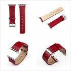Genuine Leather Strap Bracelet Watch Bands For Apple Watch Series 1 2 38/42MM