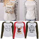 Stylish Womens Long Sleeve Crew Neck T-Shirt Pullover Casual Beads Tops Blouse H