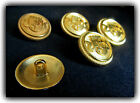 5 x Bronze Metal  Military Look Blazer Buttons Sizes 15mm Or 20mm