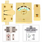 Chrome/Brass/Satin Indicator Bolt Vacant/Engaged Bathroom Toilet Door Lock Latch