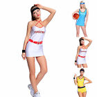 Women Beach Holiday School Basketball Player Cheerleader Fancy Dress Costume