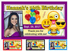 12 EMOJI BIRTHDAY PARTY FAVORS PHOTO MAGNETS ~ PERSONALIZED