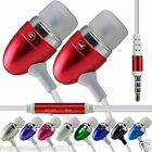 Stereo In Ear Hands Free Headset Head Phones+Mic fits Samsung Galaxy s6+Edge
