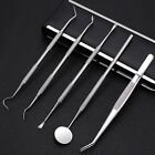 3/5Pcs Handle Stainless Steel Dental Pick Scaler Set Teeth Cleaning Tooth Care