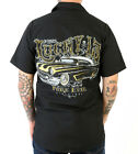 '54 Oldsmobile Rocket 88 Hot Rod Car Work Shirt by Lucky 13, Pure Evil, L