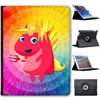 Mythical Magical Unicorns Dressing Up Folio Cover Leather Case For Apple iPad