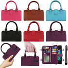 For LG K10 K428 K420N Purse Satchel Tote Clutch Handle Wallet Case Cover + Pen