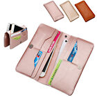 Genuine Leather Soft Thin Cash Bag Card Wallet Purse Case Cover For Cell Phones