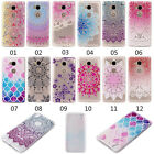 Patterned Silicone Rubber Clear Soft TPU Cute Back Cover Case For Huawei series