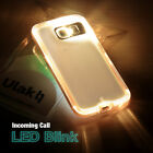 LED Flash Light UP Remind Incoming Call Cover Case Skin For Samsung Galaxy S6