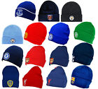 Official Football Club - KNITTED HAT (Cuff/Turn Up) Crest (Winter/Wooly/Beanie)