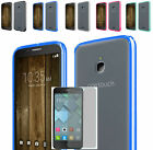 Tempered Glass+Fused TPU+Clear Back Case Cover For Alcatel One Touch PIXI Avion