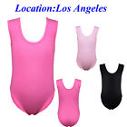 US Kids Girls Basic Training Ballet Leotards Gymnastics Uniform Dancewear 3-14Y
