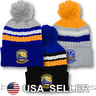 Golden State Warriors Pom Beanie Logo Basketball NBA Skull Cap Embroidered Hat