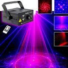 Suny 18 patterns Laser RED BLUE LED Stage Lighting DJ Xmas Party show Light