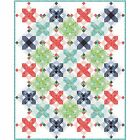 """Snowflakes Quilt Kit 92"""" x 115"""" with Moda Hazelwood Fabric by One Canoe Two"""