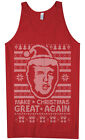 Threadrock Men's Donald Trump Ugly Christmas Sweater Tank Top