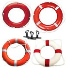 Life Buoy Ring White & Orange boat Yacht River Canal Pool Pond Lake Safety