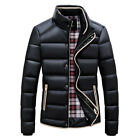 Winter Men stand collar Slim Jackets Puffer Trench 90% Down Coats Parka Outwear