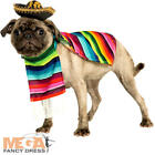 Mexican Serape + Sombrero Dog Fancy Dress National Novelty Puppy Pet Costume New