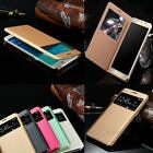 Luxury Window View Leather Crystal Case Cover for Samsung Galaxy S7 & S7 Edge