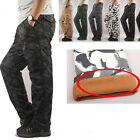 Mens Casual Tactical Military Fleece Trousers Hiking Hunting Cargo Pants M-5XL