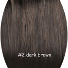 3/4 One Piece Clip In Remy Human Hair Extensions Straight With 5 Clips 16'' 100g