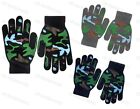 Boys Magic Stretch Gloves With Camouflage Camo Palm Grips Childrens Winter Warm