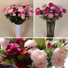 6/12 Artificial Flowers Home Garden Wedding Bridal Bouquet DIY Party Decorations