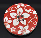 The Bead and Button Box - Large Red and White Wooden Buttons 40mm