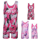Little Girls Gymnastics Leotards Sparkle Athletic Ballet Dancing Shortall 4-11Y
