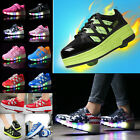 Adults Kids Fashion LED Light Wheels Shoes Boys Girls Roller Skate Sneakers