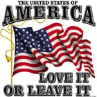 "USA "" UNITED STATES OF AMERICA..LOVE IT OR LEAVE IT """